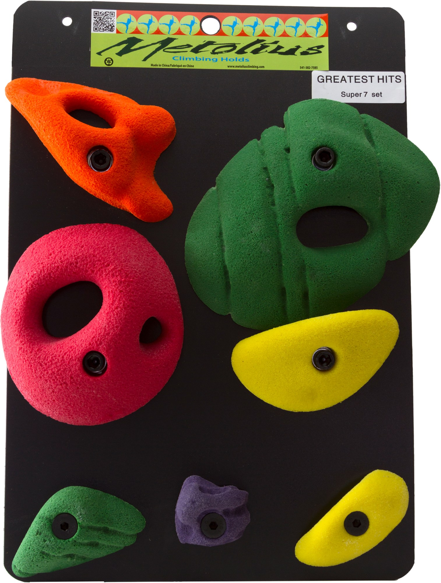 Metolius Greatest Hits Super 7 Climbing Holds