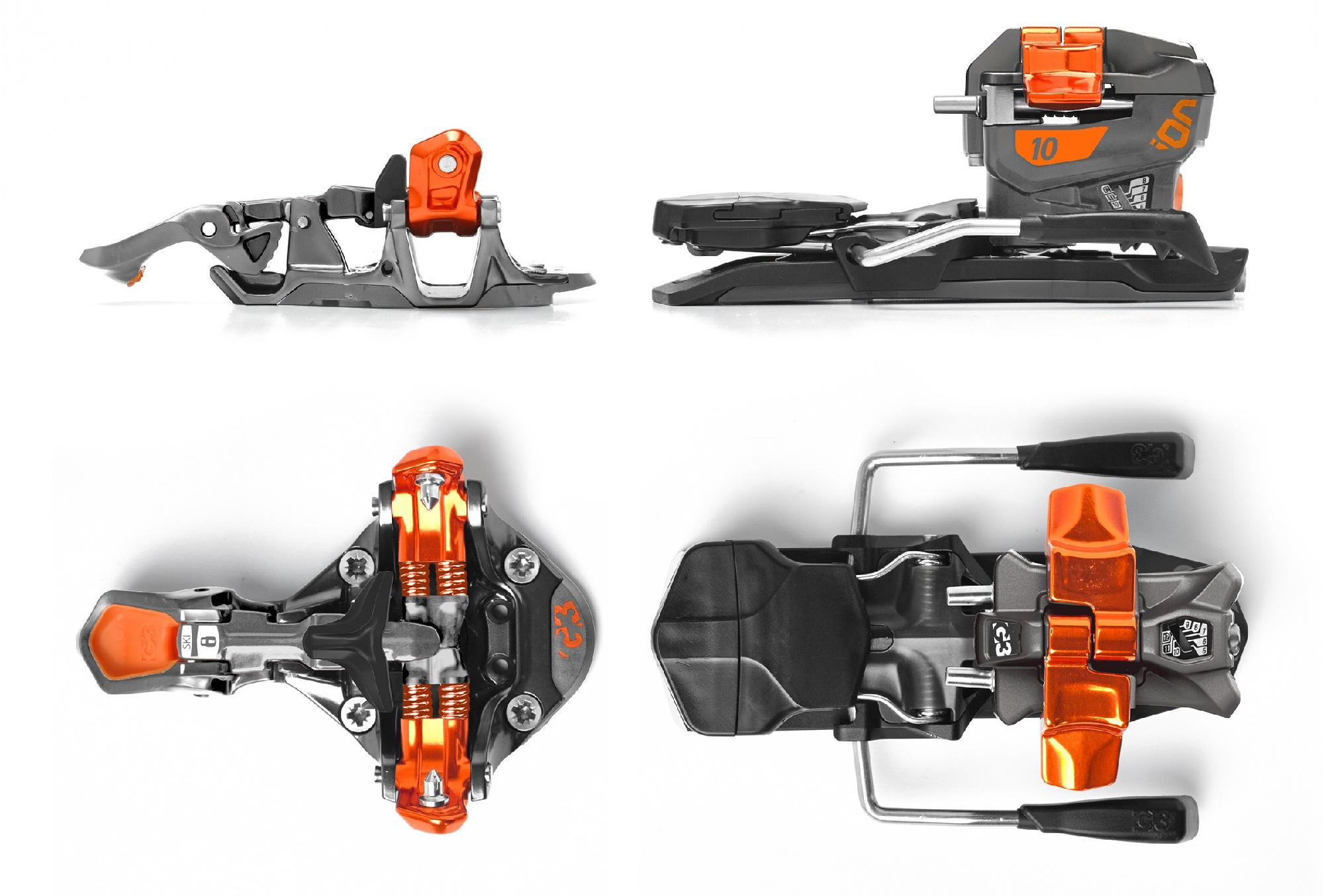 G3 Ion 10 Alpine Touring Ski Bindings with 115mm Brakes