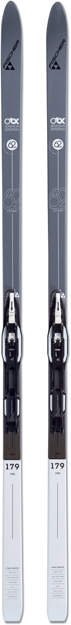 Fischer Adventure 62 Crown + Control Cross-Country Skis with Bindings - Men's